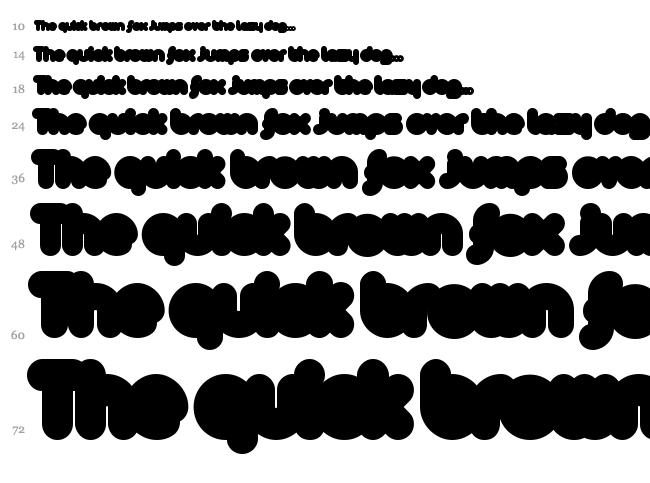 [z] Arista font waterfall